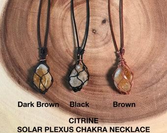 Solar Plexus Chakra Energy Healing Necklace