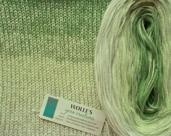 MINT JULEB SILK Medley 2 - Color Changing Cotton/Silk yarn - 480 yards/100 gr - Fingering Weight