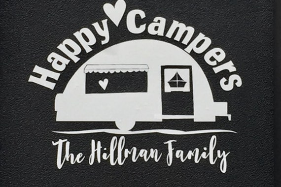 Happy Campers Decal Camping