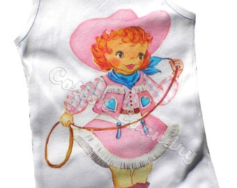 Cowgirl T-Shirt, Tank, Top or One Piece Baby Pretty in Pink Cowgirl