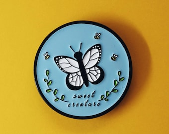 Enamel Pins - Sweet Creature - Pins, Harry Styles, Lapel Pins, One Direction, 1D Pins, Butterflies, Wedding Gift, Cute Pins, Cute Gift, 1D