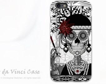 Sugar Skull  iPhone 6 Plus - 6s Plus Case - Mrs Gloria Vanderbone - 1920's Flapper Girl Day of the Dead iPhone 6 Plus cover