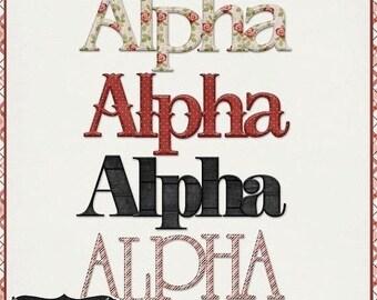 On Sale 50% Alphabets - Love Is Patient Valentine's Day Alphabet Pack Digital Scrapbook Kit - Digital Scrapbooking