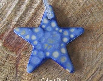 Handmade Pottery Star Ornament