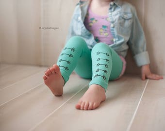 Heart Arrow Valentines Day Cupid Leggings Hand Painted Childrens Leggings Custom Toddler Leggings Womens Leggings