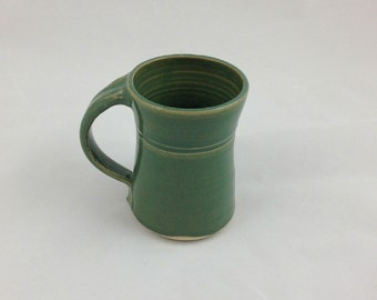 Spring Green Pottery Mug Handmade by Daisy Friesen