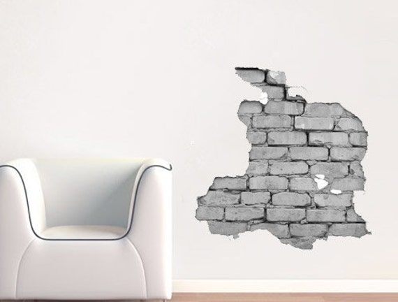 Effect Brick Wall Sticker Broken Wall Effect Sticker