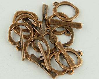 Toggle Clasps Square Copper Toggle Clasps -10-