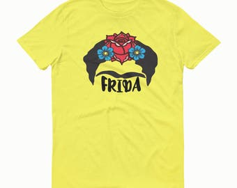 Frida T-shirt, Frida Flowers, Frida, Frida Tee, Frida Shirt