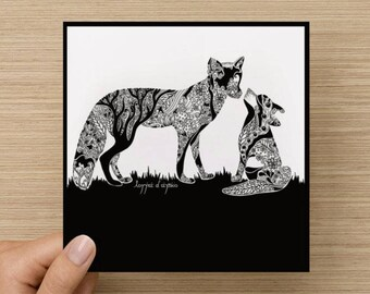 KEEP THE BAN! Fox Greetings Card (charity donation for each purchase)