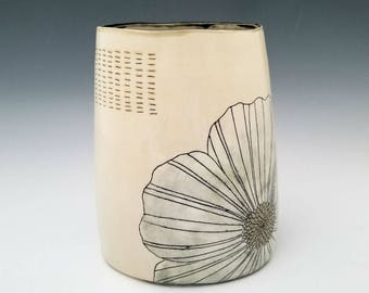 Large Ceramic Vase, Statement Vase, Porcelain Container, Modern Pottery