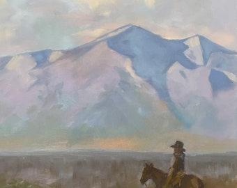 "Original Cowboy Painting 14x11"""