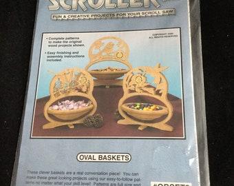 Scroller Ltd Oval Baskets/ Cardinal, Hummingbird ,and Chickadee Baskets/ Copyright 2000