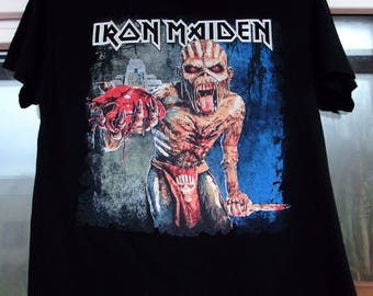 free shipping Iron Maiden The Book of Souls 2017 concert tour t-shirt black Small Slayer Guns N Roses Nirvana Metallica