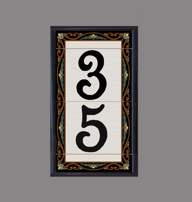 House Number Address Tiles Las Flores design