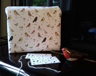 Gift Wrap & Tags | Garden Birds Print
