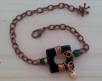"Bracelet ""Copper and stones"""