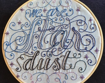 We Are Star Dust embroidery art