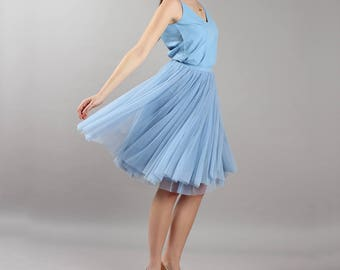 Short midi tulle wedding skirt Bridesmaid
