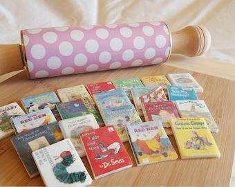 12 Edible Mini Children's Book toppers on Marshmallow Fondant