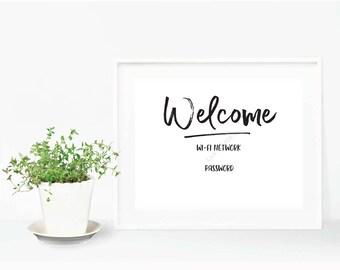 Welcome Wifi - Editable Digital Print