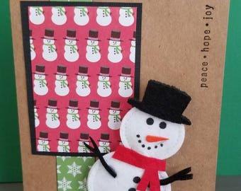 Frostigen Schneemann Weihnachtskarten - set von 4/leere Karten/Olaf/Grüße/Karton