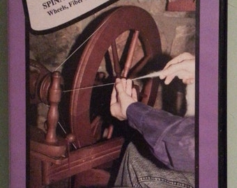Spinning Wool Basics and Beyond Wheels Fiber Preparation & Spinning Techniques 90 Minute VHS Tape by Patsy Zawistoski ~ Perfect Gift