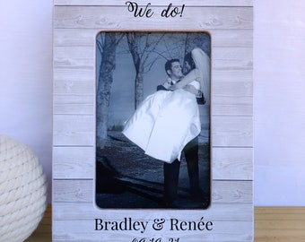 We Do Frame. Wedding Frame. Bridal shower gift. Anniversary gift. Couple picture frame. Personalized Wedding Frame