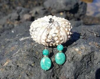 Beautiful Green Amazonite Drop Earrings