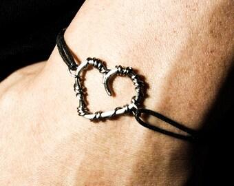 Stainless steel heart bracelet Valentines gift For Valentine Men bracelet Unisex Friendship bracelet Gift for him Gift for her