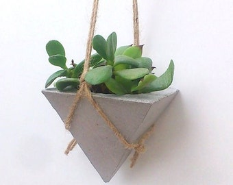 Hanging Planters/ Succulente planters / Hanging planter / Concrete Hanging planter/ Home decor/Gray Planter/  Gift for mum/Gift for her