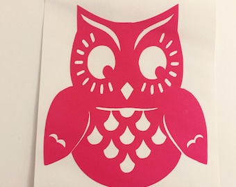 Owl Decal - Glitter Owl - Owl Sticker - Laptop Decal - Cell Phone Decal - Laptop Sticker - Car Decal - Tumbler Decal
