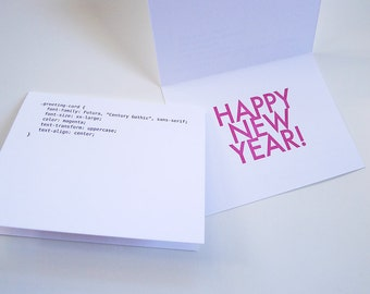 CSS Happy New Year Letterpress Card