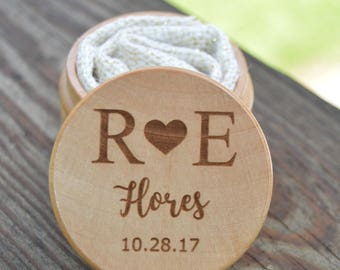 Ring Keepsake Box for Wedding Ceremony - Personalized - Ring Bearer Pillow Alternative