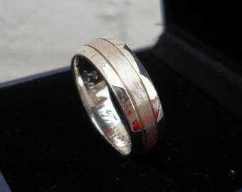 Mens ring wedding ring engraving wedding band with engraving designer mens ring with engraving 10% OFF SALE