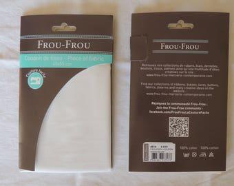 White color plain cotton fabric coupon