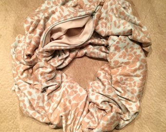 The Traveling Scarf - Sepia Leopard (Extra Short)