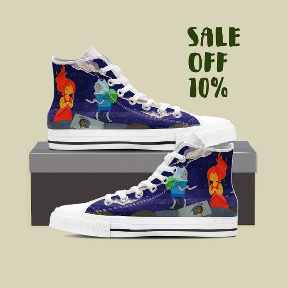 Dog Jake Custom The Finn Shoes Time Adventure High Time Converse Adventure Cartoon Shoes Jake Jake Top High Bmo Shoes And Top Finn F1fwwqzxRX
