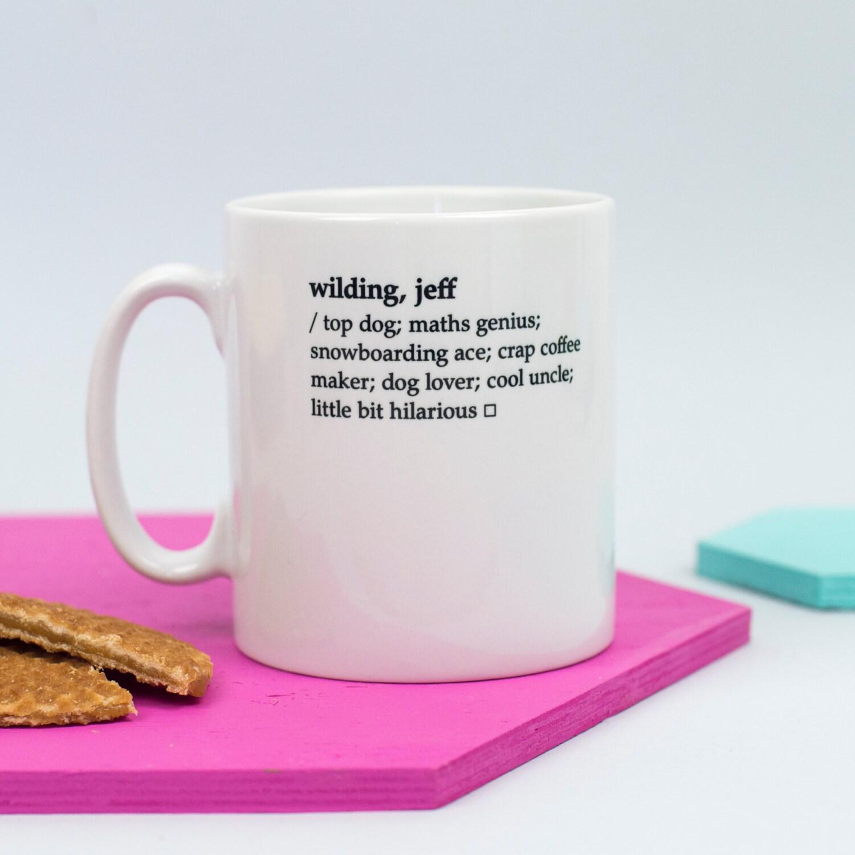 Custom Mug Dictionary Definition Mug Personalised Mug