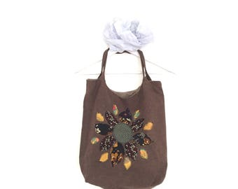 Stitched flowers Tote