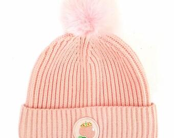 Peach Princess Bobble Hat