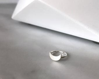 Moon piercing - Sterling silver piercing with moon - cartilage earring - helix piercing - helix earring - conch - rook  -  20g, 18g or 16g