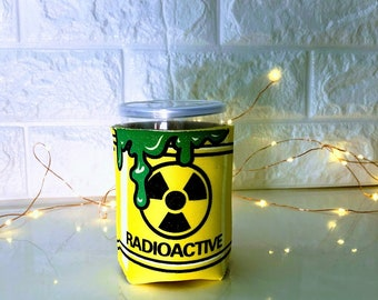 Radioactive Party Favor Packing With Metal Pull Tab Pop Tops