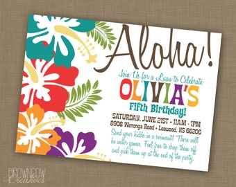 PRINTABLE Luau Party Invitation