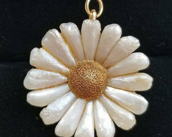 Crossman & Co Antique 14k Yellow Gold River Pearl Flower Pendant Brooch Pin/Antique 14k Gold Pearl Pendant/ 14k Gold Pearl Brooch Pin