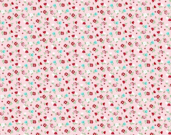 SALE!! 1 Yard A Little Sweetness by Tasha Noel for Riley Blake Designs- 6512  Pink Sweetness Floral