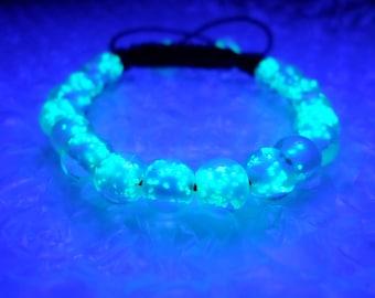 Glowing Bracelet, Glow in the dark Bracelet, Glow in the dark jewelry