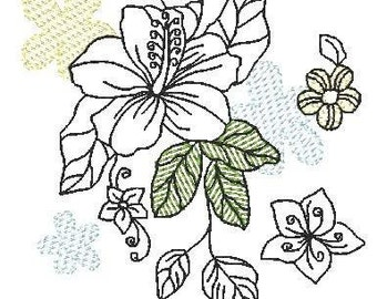 Floral Dream Redwork ( 10 Machine Embroidery Designs from ATW )