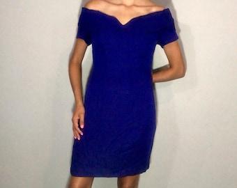 1980s off the shoulder dress