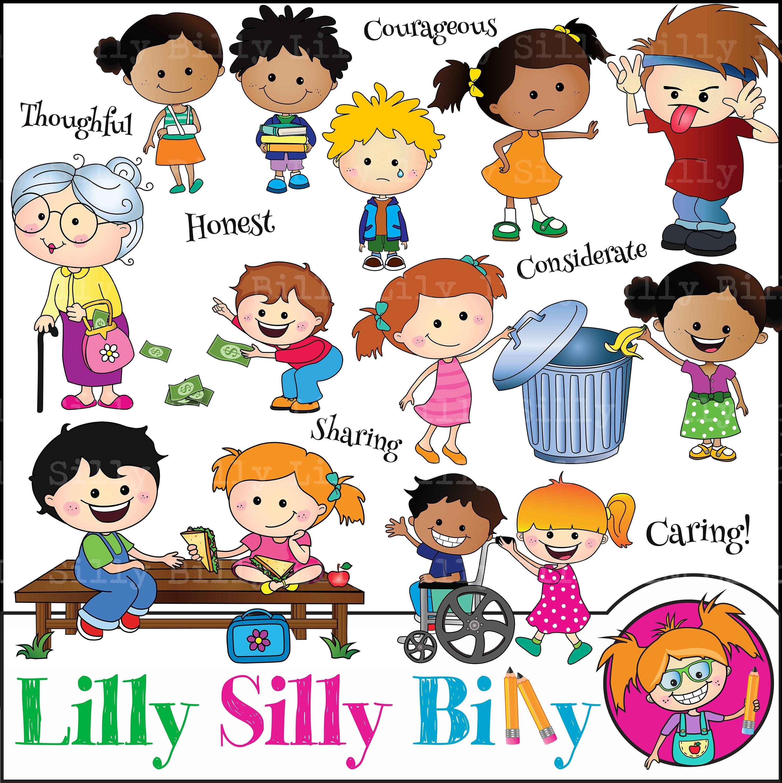Children's values, Education clipart cute children ...